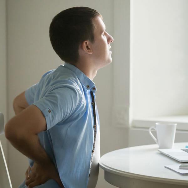 อาการของโรคหมอนรองกระดูกทับเส้นประสาท